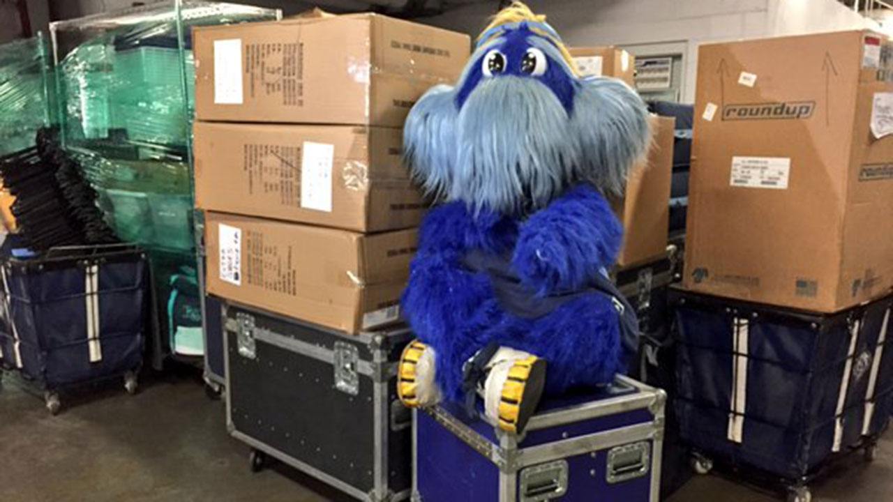 Rays pack for Spring Training on Truck Day